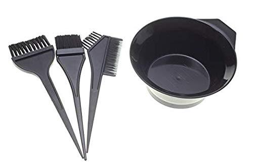 1 Set of 4pcs Hair Dye Coloring Brush Comb Bowl Barber Salon Tint Hairdressing sxbest