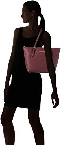 Michael Kors Damen Jet Set Top-Zip Saffiano Leather Tote, Violett (Plum), 13 x 25 x 38 cm
