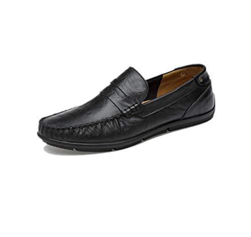 Scarpe da Grandi Scarpe zmlsc di Scarpe Casual Scarpe da Uomo Uomo Piselli Pigre Black Dimensioni xUqwX7qz