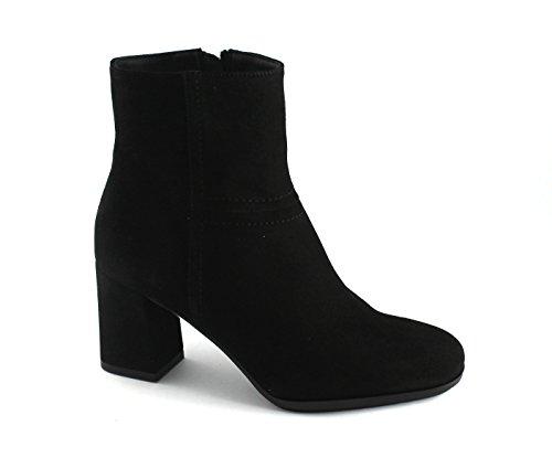 GRUNLAND Tít PO1290 Botas de Mujer Zapatos de Color Negro con Cremallera Tobillo del Talón Nero