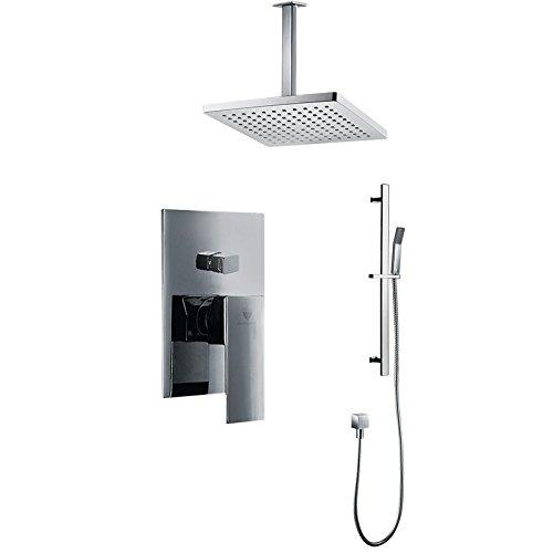 (Genoa Ceiling Mount Bathroom Rain Shower Set)