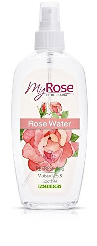 Rose Water Spray for Face and Body with Rosa Damascena Oil - Refreshes, Moisturizes & Soothes 220ml by Lavena My Rose