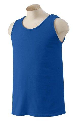 Gildan Ultra Cotton Tank Top Shirt - Royal Blue, 2XL