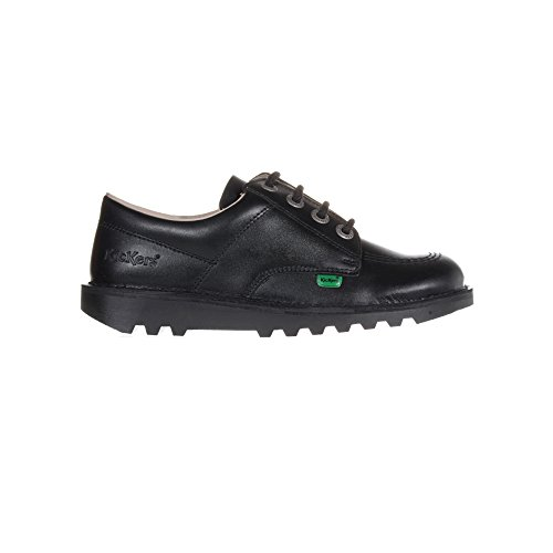 Schwarz Kinder Schuhe KICKERS Kick Stiefel Lo Leder Schule Jugend 8AHUvq