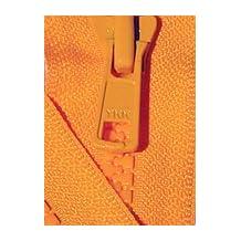 """30\"""" Vislon Zipper ~ YKK #5 Molded Plastic ~ Separating - 523 Orange (1 Zipper/ Pack)"""