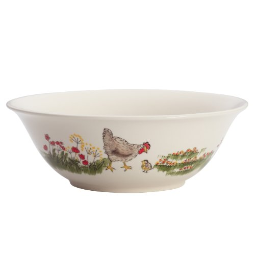 Dinnerware Southern Rooster Collection 10-Inch Serving Bowl ()