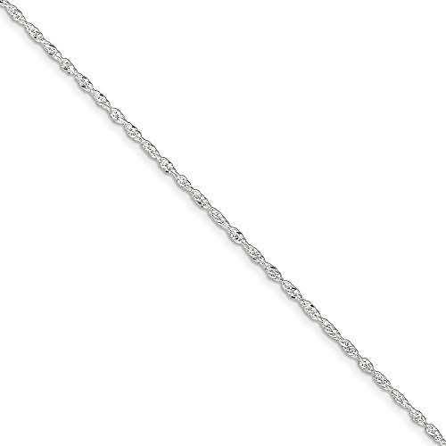 925 Sterling Silver Link Singapore 1 Inch Adjustable Chain Plus Size Extender Anklet Ankle Beach Bracelet Fine Jewelry Gifts For Women For Her