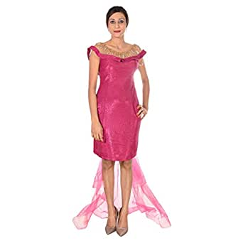 Dekelte Pink Mixed Special Occasion Dress For Women