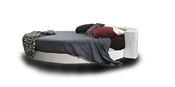 Ponti Divani Round bed (diameter 220) mattress. Coating light blue ...