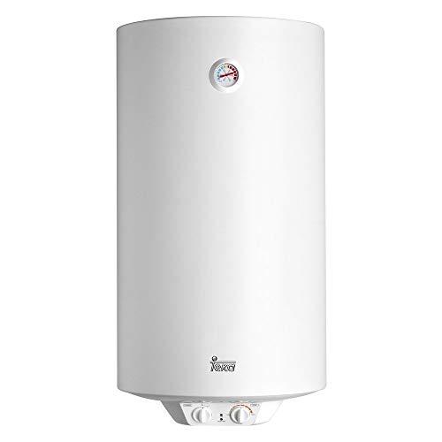 Teka 42080100 Termo Electrico | 1500 W | 100 L | Blanco | Clase de eficiencia energetica C | Modelo Ewh100 | Tanque esmaltado | Temperatura 30-75º, Ceramica