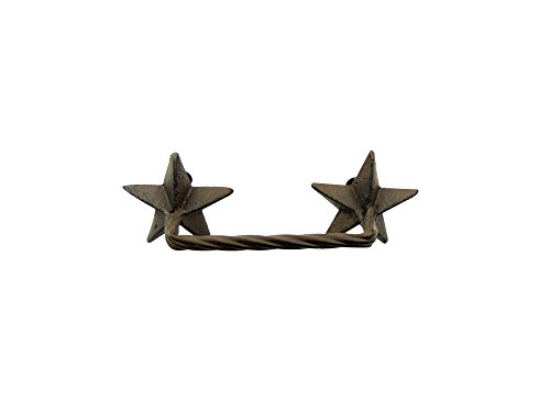 Cast Iron Western Star Drawer Handle Cabinet Pull Rustic Style Hardware