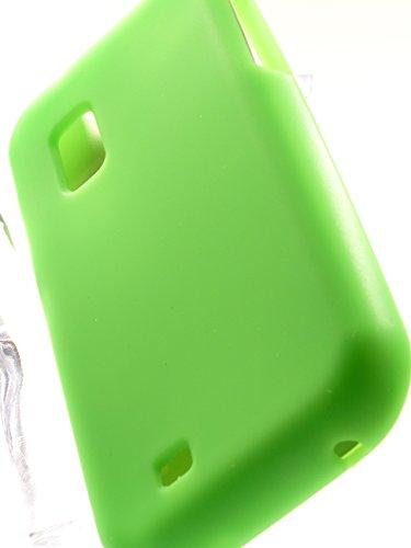 Shockwize (Tm) Impressions Series Samsung Galaxy S Showcase i500 Fascinate Mesmerize S950C Flexible Silicone Skin Protector Case Shock Absorbing Flex Hybrid Silicon SCH-I500 SCH-S950C (Flex Solid Green)