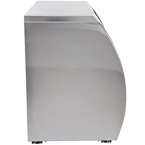 Xiltek 48″ All Stainless Steel Commercial Curved Glass Refrigerated Deli Case Display Case Meat Case With LED Lighting and Casters