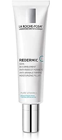 La Roche-Posay Redermic C Anti-Wrinkle Vitamin C Moisturizer with Pure Vitamin C & Hyaluronic Acid for Dry Skin, 1.35 Fl. Oz.