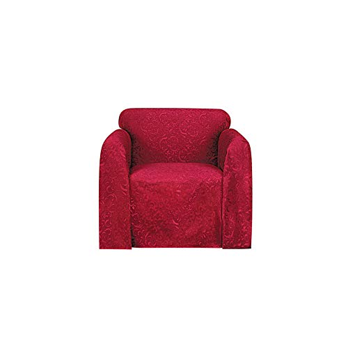 Collections Etc Stylemaster Brianna Jacquard Furniture Throw, Spice Chair 70