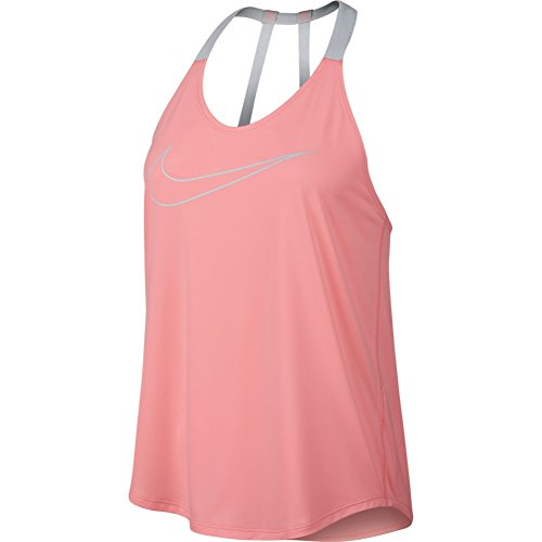 Nike Dry Women's Training Tank, Small(Bright Melon/Cool Grey)
