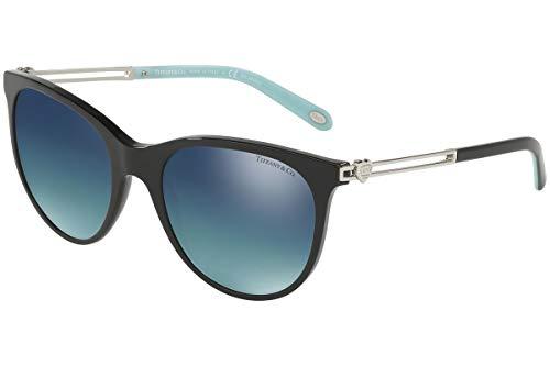 Tiffany & Co. TF4139 - 80014Y Sunglasses BLACK W/ POLARIZED MIRROR GRADIENT BLUE  55mm (Tiffany Victoria)