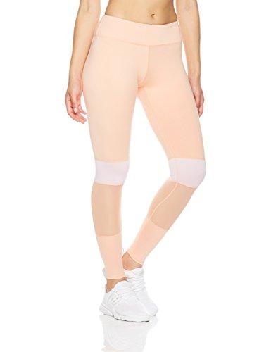 Mint Lilac Women's High Waist Yoga Leggings Athletic Workout Pants Peach Small