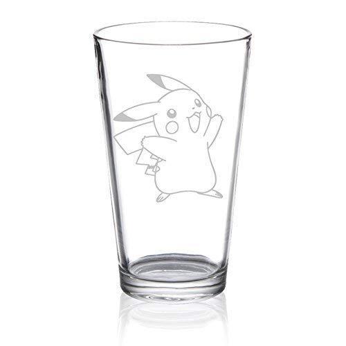 Pikachu - Etched Pint Glass -