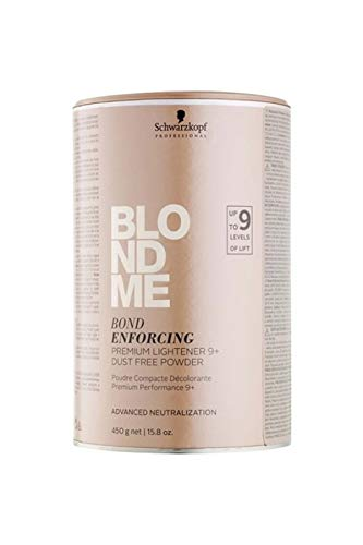 Schwarzkopf BlondMe Bond Enforcing Premium Lightener 9+ Dust Free Powder - 15.8 oz