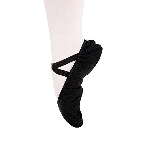 Ballett Ballett Leinwand Schuh flach M und dchen Split Verschiedenen Erwachsene Sole Gr Schwarz f¨¹r en Kinder dwBIqB