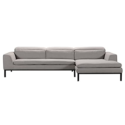 Amazon.com: Divani Casa Clayton Modern Fabric Sectional Sofa ...