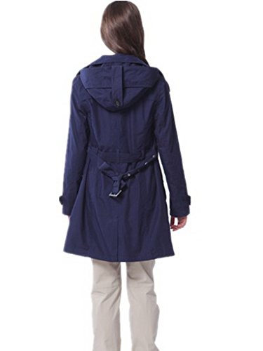 iKRR Windbreaker Abrigo para Mujeres Azul