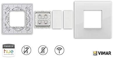 No necesita pilas. Vimar 0K03906.05 Kit interruptor inal/ámbrico en radiofrecuencia Philips Friends of Hue Serie Ark/é Classic