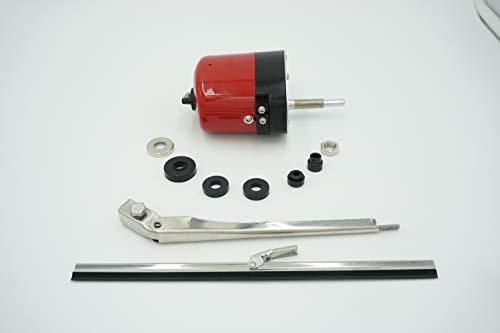 WIPER MOTOR ARM BLADE KIT 24 VOLT LEAD SLED STREET ROD 24V CL301-55MM-24V ()