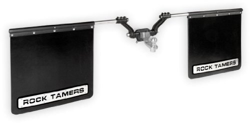 ROCK TAMERS (00110) 2.5″ Hub Mudflap System with Matte Black Stainless Steel Trim Plates