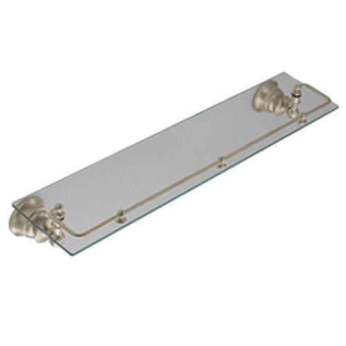 Moen YB9899BN Waterhill Glass Shelf with Pivoting Rail, Brushed Nickel