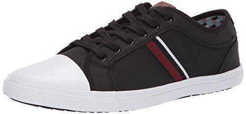 Ben Sherman Men's Brayson Ox Sneaker, Black Perforated, 10.5 M US