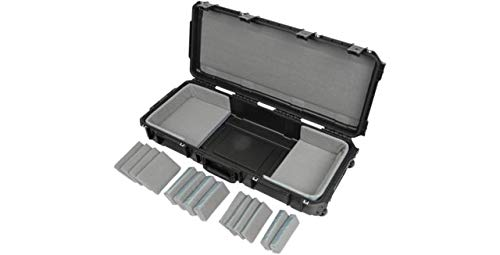 SKB Cases 3i-3614-TKBD iSeries 49-Note Keyboard Case, Waterproof Injection Molded Shell, 14 Total Hook-and-loop Pads in 4 Different Sizes, Pull Handle and Wheels for Easy Towing
