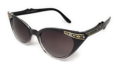 WebDeals - Cateye or High Pointed Eyeglasses or Sunglasses...... (Black Fade, ()