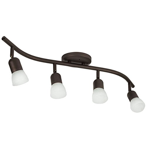 4 Light Track Lighting Wall or Ceiling Fixture Adjustable, Oil Rubbed Bronze