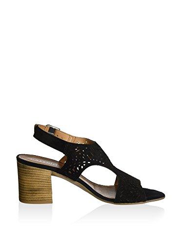 CAFèNOIR Women's Mxl616 Sandals Black pn1tEJltGH