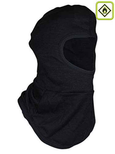 Magid Glove & Safety HPT385BK FR 6 oz. NFPA 70E Compliant para-Tek FR Balaclava, Black, 8