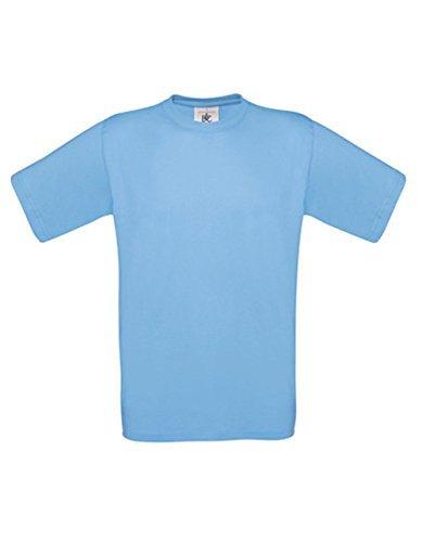 T-Shirt Exact 190 Basics Rundhals Shirt viele Farben B&C S-XXL M,skyblue