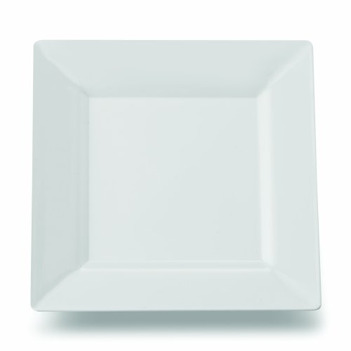 Square Plastic Dessert Salad Plates White 6.5 Inch 120ct Elegant Wedding Plate by Yoshi