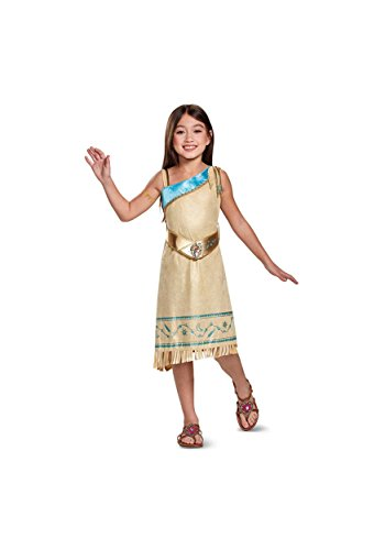Pocahontas Deluxe Costume, Brown, Small (4-6X) (Costumes Of Pocahontas)