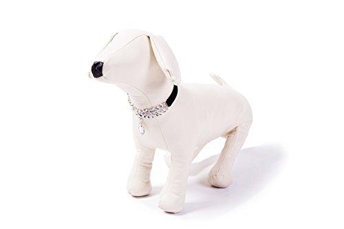 EXPAWLORER Black Fashion Jeweled Diamante Dog Cat Puppy Collars Necklace Style by EXPAWLORER (Image #3)