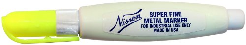 Nissen 00807 Super Fine Metal Marker, Neon Yellow