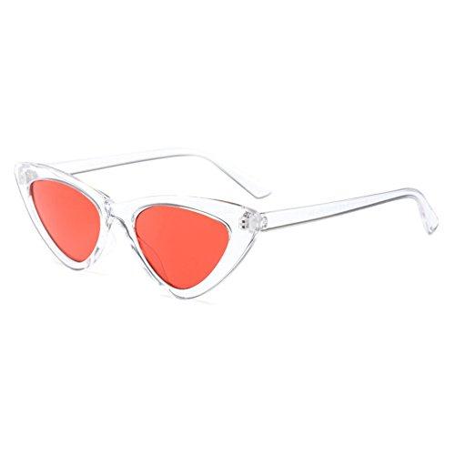 Blanco de Gafas Mod Sunglasses Cat de Retro de Gafas Eye anaranjado Vintage de Moda Mujer sol Sol BZWfU