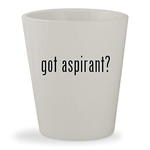 got aspirant? - White Ceramic 1.5oz Shot Glass (Nautilus Aspire Tank Glass)