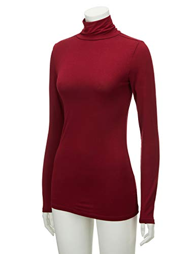 Regna X Women s Long Sleeve Lightweight Turtleneck Top Pullover Sweater  (S-3X) eb17221d9