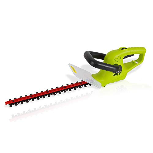 Corded Electric Handheld Hedge Trimmer – 4 Amp Electrical High Powered Hand Garden Trimmer Tool w/ 18 Inch Blade, 10 In Long Cord – Trims Bush, Shrub, Grass, Small Tree Branch – SereneLife PSLHTRIM52