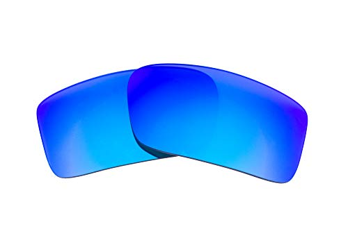 (LenzFlip Replacement Lenses Compatible With Oakley Gascan - Grey w/Blue)