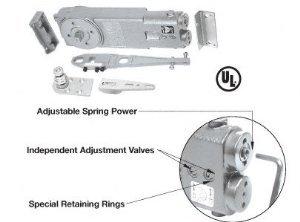CRL 105 Degree Hold Open Adjustable Spring Power Overhead Concealed Door Closer
