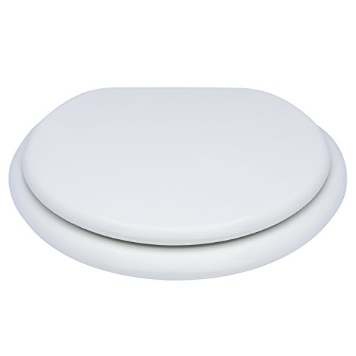 Karlson KS1242-1901-WH Standard Molded Wood Elongated Toilet Seat White by Karlson (Image #1)