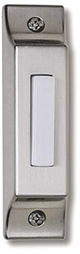Craftmade BSCB-PW Die-Cast Builder's Surface Mount Lighted Doorbell LED Push Button, Pewter (3.75